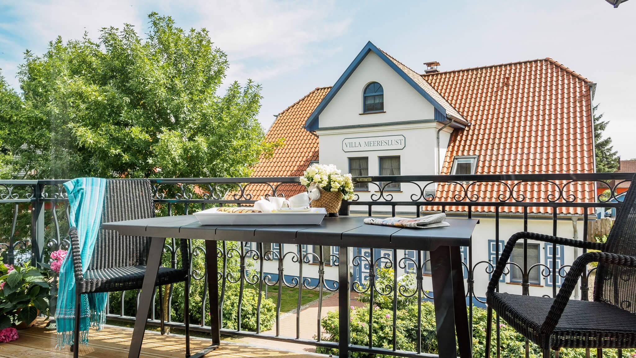 Ferienwohnung meerle 4 - Balkon