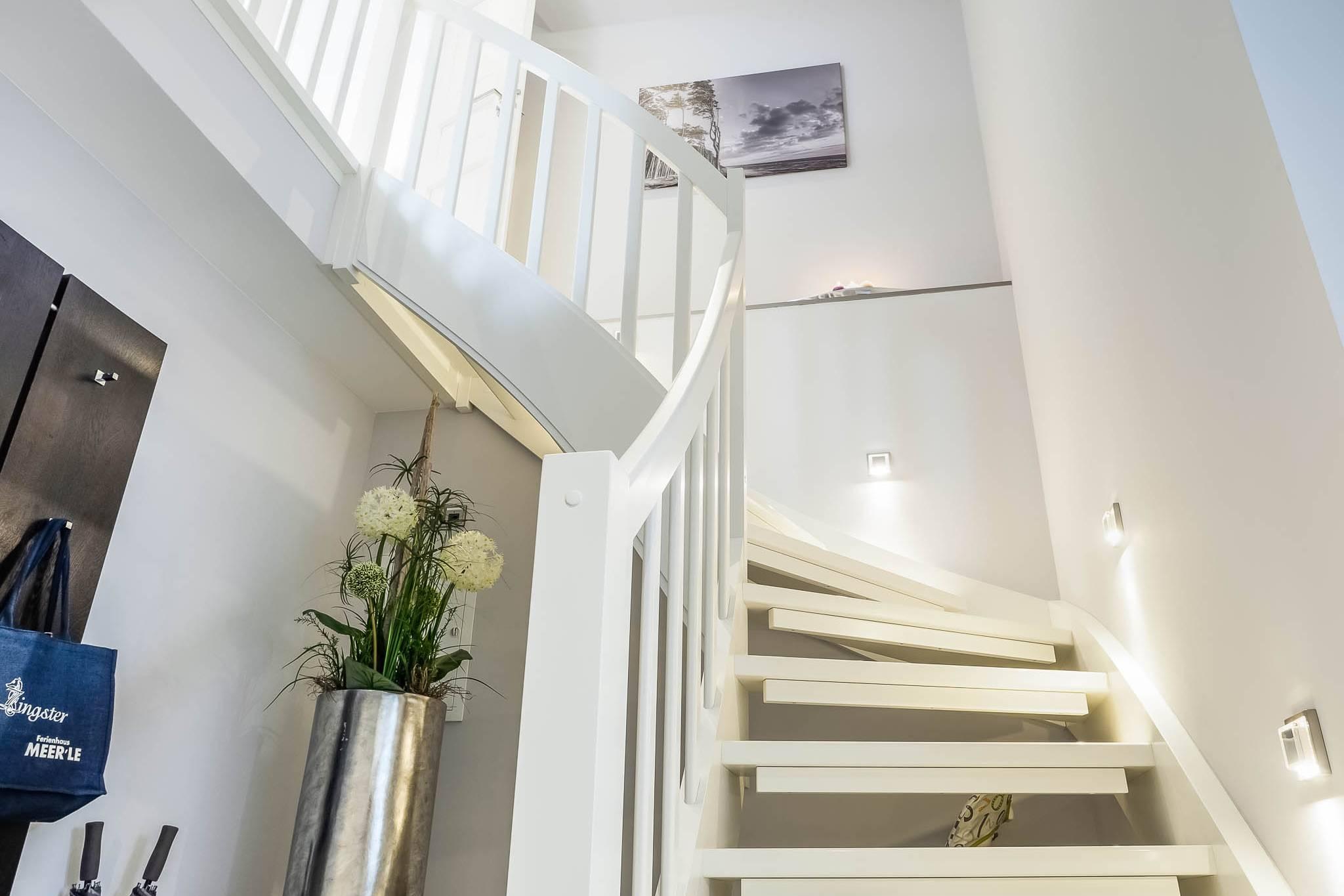 Ferienwohnung meerle 4 - Treppe ins Dachgeschoss