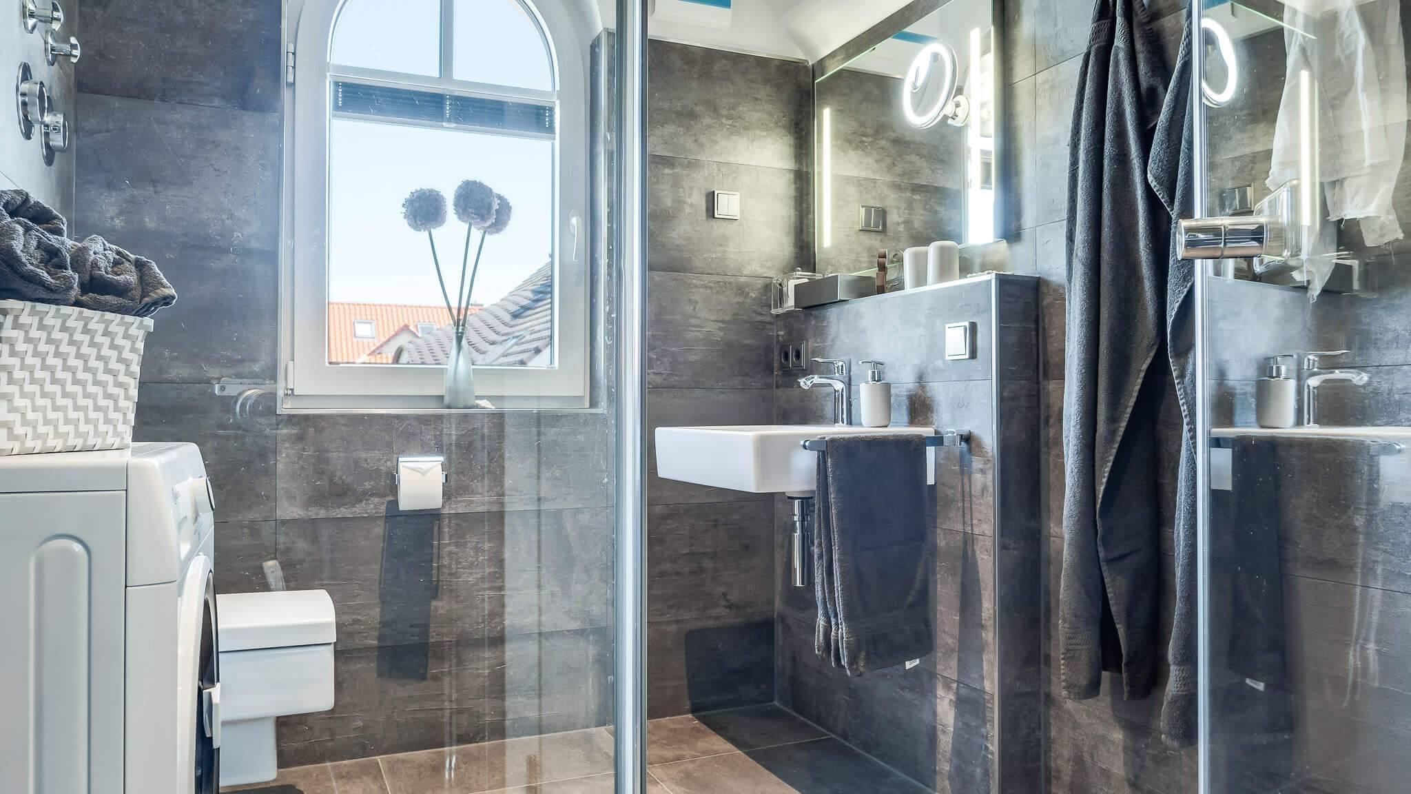 Ferienwohnung meerle 5 – Duschbad