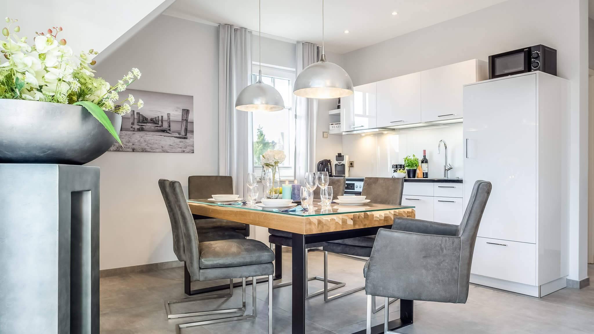 Ferienwohnung meerle 5 – Offene Küche